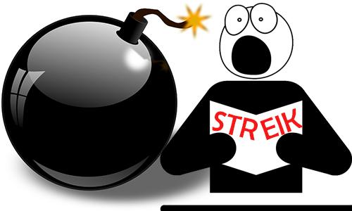Streik: Jeder ist sich selbst der Nächste!