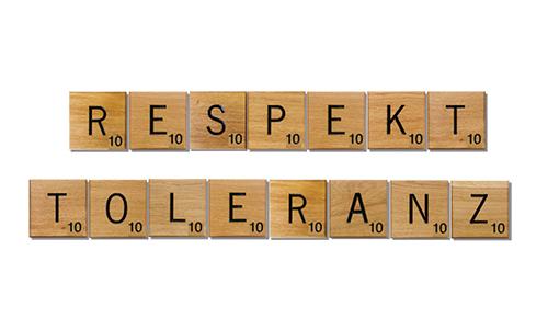 Mit Respekt und Toleranz