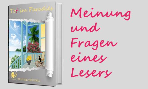 Tot im Paradies: Meinung und Fragen eines Lesers