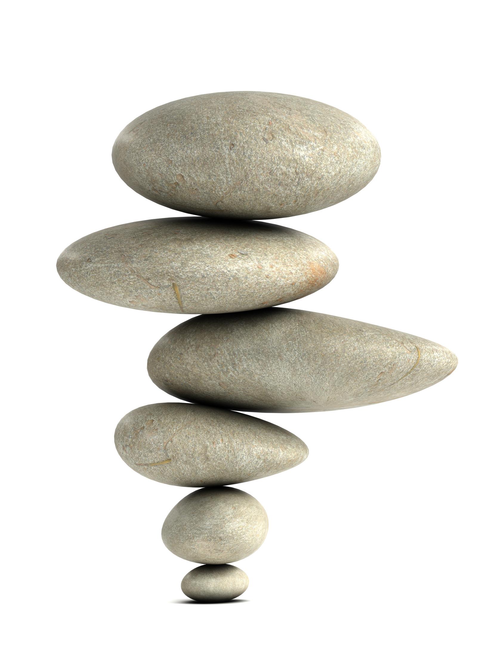 3d Balancing zen stones