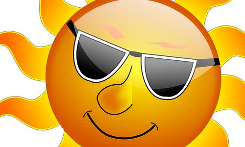 Wie schrecklich — die Sonne scheint!